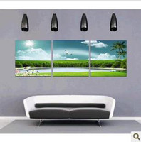 Wholesale Home decorations frameless painting oil love Lake