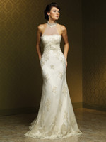 Wholesale 2012 new style sexy miasolano crane neck lace big trailing grow packet hip wedding dresses
