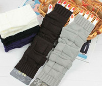 Wholesale Skin care Fingerless arm Mitten Long Sleeve Gloves Style knit arm Winter warmer fingerless gloves