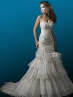 Cheap full refund guarantee! Babyonline Destiny strapless Crystal Organza mermaid wedding dress MG099