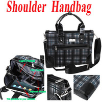 Wholesale New Arrive Plaid Business Laptop Bag Tote Shoulder Messenger Handbag high quality Laptop Bag H8977