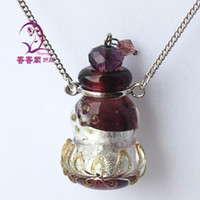 Wholesale Handmade Aroma Necklace aromatherapy diffuser necklace Essential Oil Necklaces Aroma pendant