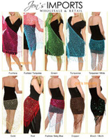 Triangle Crochet Net Sequins Belly Dance Hip Scarf Sexy 10 C...