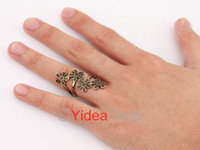 Wholesale 6pcs Retro Antique Vintage Costume Jewellery Silver Brozne Plum Flower Twist Ring