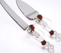 stainless steel cake knife - Cream Rose Wedding Cake Knife amp Server Set Stainless Steel Wedding Favors Gifts