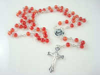 Alloy agate rosary beads - Agate Imitation Beads Religious Rosary Beaded Necklaces colors FFF