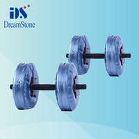 Wholesale New Chrismas Gift dumbbells Water Poured Dumbbell have RoHS approved pairs EMS