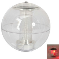 Wholesale New Solar Power Floating LED Light Red Light For Garden Pond Ship From USA