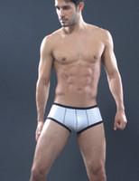 Men Cotton Boxers & Boy Shorts 2pcs Shino breathable mesh men's boxer underwear U convex pouch mesh underpants