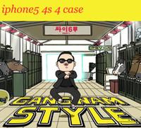 achat en gros de psy coque iphone-Gangnam Style PSY plastique PC coque rigide coque couverture arrière pour iPhone 5 5G 5S iphone5 EFIT