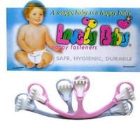 al por mayor pañales sujetadores-27Sets pañal sujetador sujetadores de seguridad pañales seguro pin pañal hebilla servilleta botón para bebé encantador
