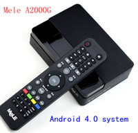 Wholesale Mele A2000G GB RAM GB NAND FLASH Android hard disk player Allwinner Boxchip A10 WiFi S524