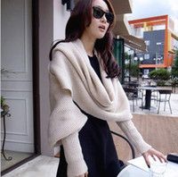 Wholesale South Korea qiu dong female knitting wool long collar shawl man even sleeves scarf