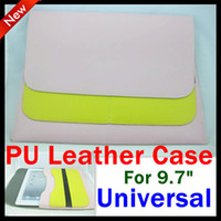 Wholesale PU Leather pouch universal case for inch android tablet case for ipad new ipad3