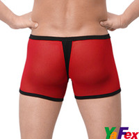 Wholesale Freeshipping Sexy See through Underwear Boxers Briefs For Men Spandex CL3202