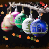 Wholesale 6pcs cm Christmas ball decoration gift ball for Christmas Tree Ornament plastic SD19