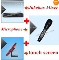 Wholesale KARAOKE MICROPHONE machine system Jukebox Mixer TB HD Wired Microphones quot touch screen