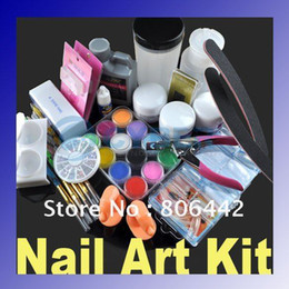 Wholesale Professional DIY Acrylic Nail Kit Set with Powder Liquid Glue Full Combo Art Decorations C