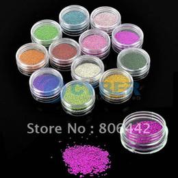 Wholesale New Colors Caviar Nails Nail ART DIY Colorful Carving Pattern Powder Glitter Bead N