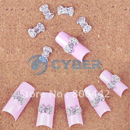 Wholesale x D Alloy Butterfly Bow Tie Glitters Slices For Tips DIY Nail Art Decorations