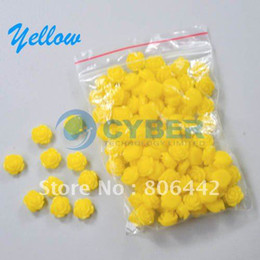 Wholesale 100pc Yellow Rose Flower D Nail Art Stickers For Tips Decoration New