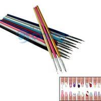 Wholesale Professinal Nail Art Brush Set Design Painting Pen Dotting Acrylic Tool