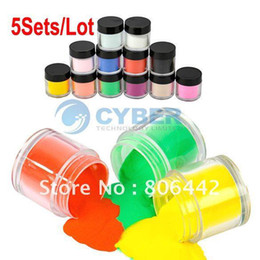 Wholesale 5Sets Colors Acrylic Powder Dust Jumbo Set for Professional Nail Art Design