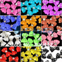 2D acrylic nail bows - 3D Glitters Bow Tie Bowtie Butterfly Acrylic Slices Rhinestones Nail Art Tip