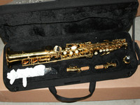 Wholesale NEW gold Soprano Saxophone free case Very beautiful Sold Perfect Soprano Saxophone gold