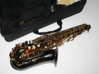 Wholesale NEW Perfect Alto Saxophone Black body gold key free case Very beautiful Sold