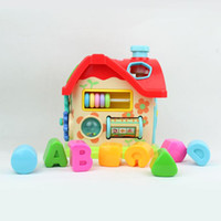 Wholesale Baby Toys Funny Intelligence House The Best Christmas Buliding Block For Children Play Kids Learning Stuff