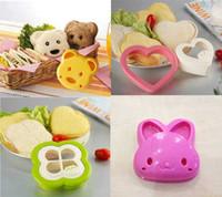 Wholesale 4 Styles Lovely Winnie Bread Sandwich Mold Pocket Toaster Maker
