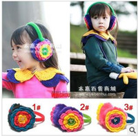 Wholesale Children s earmuffs Baby girl flower ear muffs Kids Winter ear warmer Baby s love earmuff