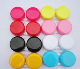 Wholesale Xmas Promotion Cheap Flat cover Contacts lens Cases discount Lens Cases