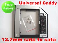 Wholesale SATA to SATA nd HDD HD HARD Driver mm Universal Caddy CD DVD ROM Optical Bay