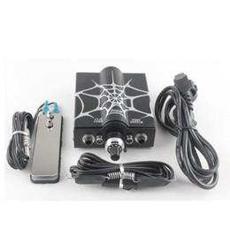 Wholesale New Tattoo Power Supply Spider Net Printing clip cord foot pedal P
