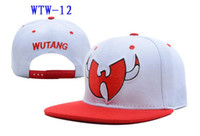 Embroidered chicago - Cheap WuTang Wu Chicago Snapback White Red HIP Hop Street Adjustable Snapbacks Hats Hellosport86