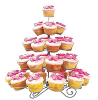 Wholesale 5 Tier Metal Party New Spin Dessert Cupcake Stand Tree Holder Muffin Serving Birthday Cake Cups S