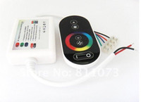 Wholesale Wireless RF Dimmer Controller Touch Touching Remote controll for RGB LED Strip lights V A