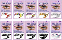Wholesale New style easy to remove eye shadow eyeliner eye liner stickers Temporary Tattoos qwas