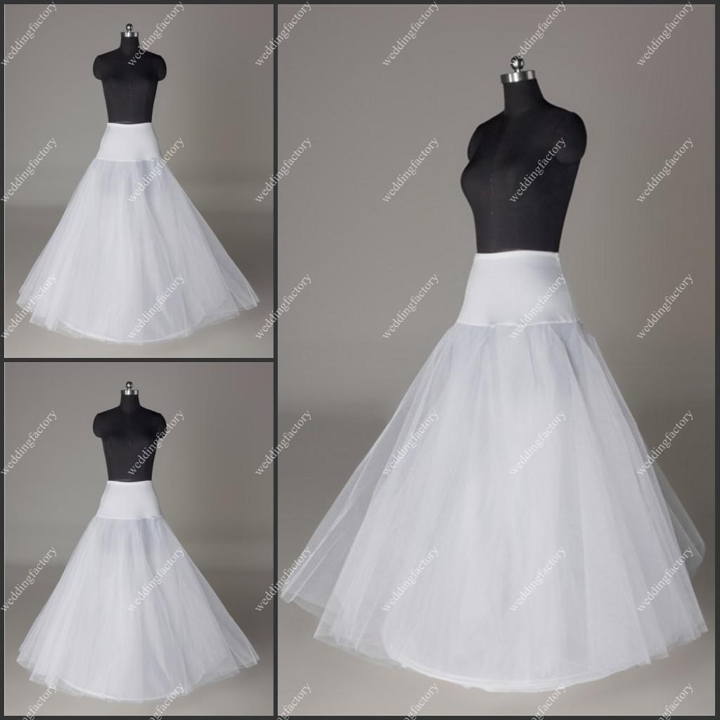 Tulle petticoats a line wedding dresses crinoline for Tulle petticoat for wedding dress
