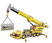 toy crane - Crane DIY blocks city building crane blocks toy Building Vehicles block assembling toy