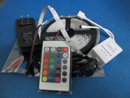 LED Flexible Strip 3528 5m RGB 300 LEDs + 24Key IR Remote Controller + 2A AC Power Supply