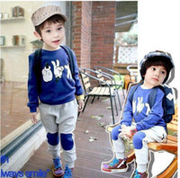 Boy free shipping clothes - sets Kids Autumn Clothes Set Children Suits Baby Costumes bc