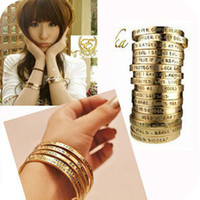 Wholesale E006 fashion accessories vintage letter bracelet