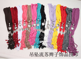 Wholesale pendants scarf jewelry New scarf Elegant cotton soft Fringed scarf color Beach design Scarf
