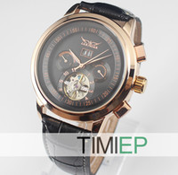 Wholesale Nice Gold Tone Luxury Elegant Auto Mechanical Men s Wrist Watches Clock New
