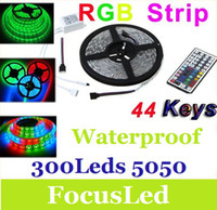 Wholesale 5050 SMD Led Strip Light RGB Leds m Waterproof IP65 V With Key IR Controller CE ROHS