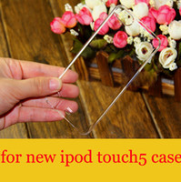 Wholesale Cheap transparent Plastic Hard case for ipod touch5 Crystal Clear PC back Cover cases for touch G