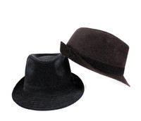 Wholesale gentleman hat summer caps black and coffee color accept pc Free shpping via China post